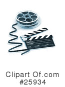 Royalty-Free (RF) Film Industry Clipart Illustration #25934