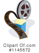 Royalty-Free (RF) Film Reel Clipart Illustration #1145672