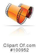 Royalty-Free (RF) film strip Clipart Illustration #100952
