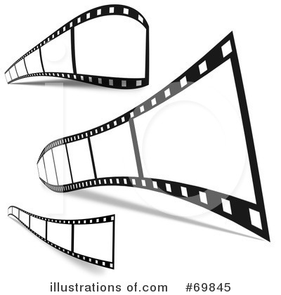 Film Strip Clipart #69845 - Illustration by MacX