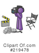 Royalty-Free (RF) Filming Clipart Illustration #219478