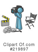 Filming Clipart #219897 by Leo Blanchette
