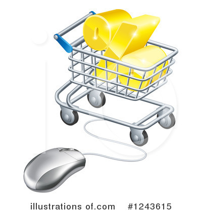 Shopping Cart Clipart #1243615 by AtStockIllustration