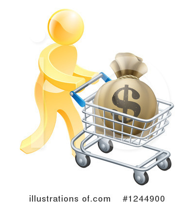 Shopping Cart Clipart #1244900 by AtStockIllustration
