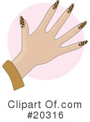 Royalty-Free (RF) Fingernails Clipart Illustration #20316