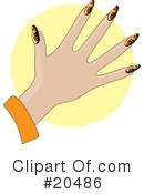 Royalty-Free (RF) Fingernails Clipart Illustration #20486