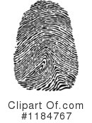 Royalty-Free (RF) Fingerprint Clipart Illustration #1184767