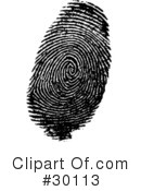 Fingerprint Clipart #30113