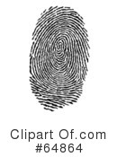 Royalty-Free (RF) Fingerprint Clipart Illustration #64864