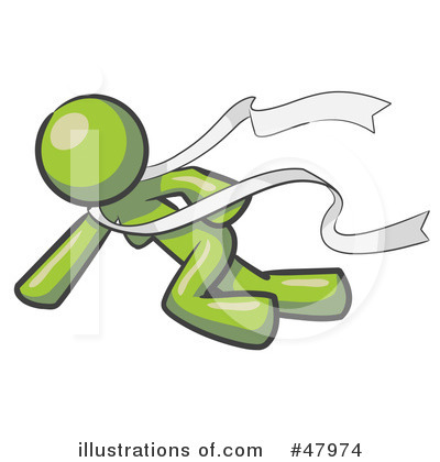 Finish Line Clipart #47974 by Leo Blanchette