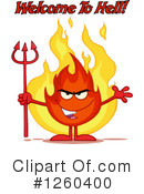 Fire Character Clipart #1260400 by Hit Toon