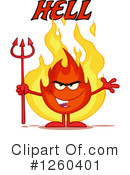 Fire Character Clipart #1260401 by Hit Toon