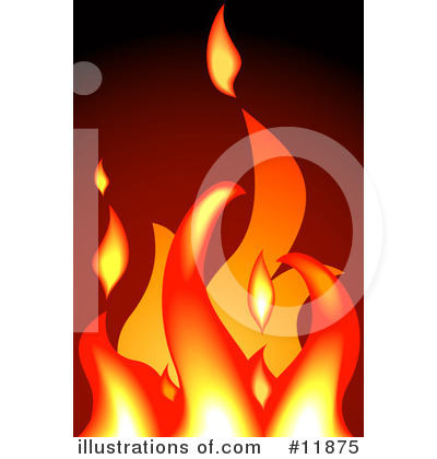 Fire Clipart #11875 by AtStockIllustration
