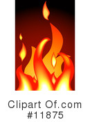 Royalty-Free (RF) fire Clipart Illustration #11875