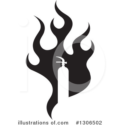 Fire Extinguisher Clipart #1306502 by Lal Perera