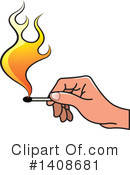Royalty-Free (RF) Fire Clipart Illustration #1408681
