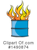 Royalty-Free (RF) Fire Clipart Illustration #1490874