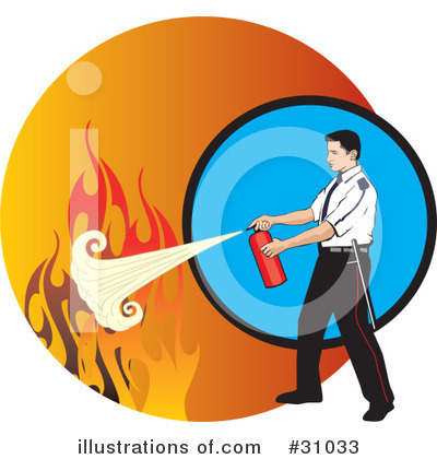 Fire Extinguisher Clipart #31033 by David Rey