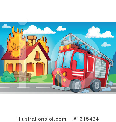 Fire Truck Clipart #1315434 by visekart