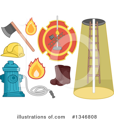 Firefighter Clipart #1346808 by BNP Design Studio