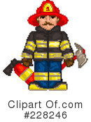 Royalty-Free (RF) fire department Clipart Illustration #228246