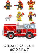 Royalty-Free (RF) Fire Department Clipart Illustration #228247