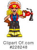 Royalty-Free (RF) Fire Department Clipart Illustration #228248