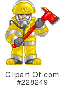 Royalty-Free (RF) fire department Clipart Illustration #228249
