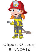 Royalty-Free (RF) Fire Fighter Clipart Illustration #1096412