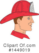 Fire Fighter Clipart #1449019 by patrimonio