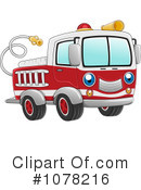 Royalty-Free (RF) Fire Truck Clipart Illustration #1078216