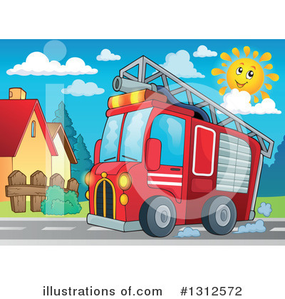 Fire Truck Clipart #1312572 by visekart