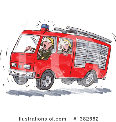 Fire Department Clipart #1382682 by patrimonio