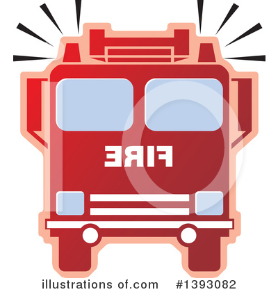 Fire Truck Clipart #1393082 by Lal Perera