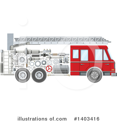 Firefighter Clipart #1403416 by Vector Tradition SM