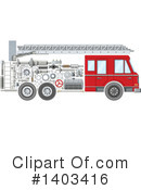 Fire Truck Clipart #1403416 by Vector Tradition SM