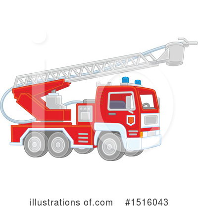 Fire Truck Clipart #1516043 by Alex Bannykh