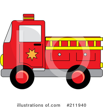 Fire Truck Clipart #211940 by Pams Clipart