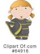 Royalty-Free (RF) Fire Woman Clipart Illustration #64916