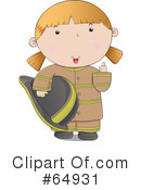 Royalty-Free (RF) Fire Woman Clipart Illustration #64931
