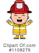 Royalty-Free (RF) Firefighter Clipart Illustration #1108279