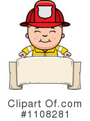 Royalty-Free (RF) Firefighter Clipart Illustration #1108281
