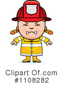 Royalty-Free (RF) Firefighter Clipart Illustration #1108282