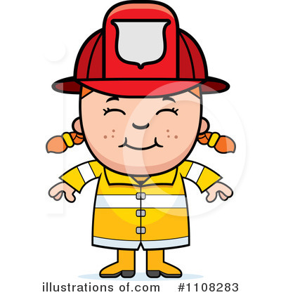 Firefighter Clipart #1108283 - Illustration by Cory Thoman