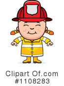 Royalty-Free (RF) Firefighter Clipart Illustration #1108283
