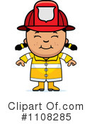 Royalty-Free (RF) Firefighter Clipart Illustration #1108285