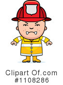 Royalty-Free (RF) Firefighter Clipart Illustration #1108286