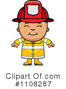 Royalty-Free (RF) Firefighter Clipart Illustration #1108287