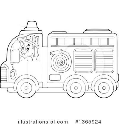 Fire Truck Clipart #1365924 by visekart