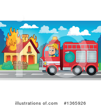 Fire Truck Clipart #1365926 by visekart